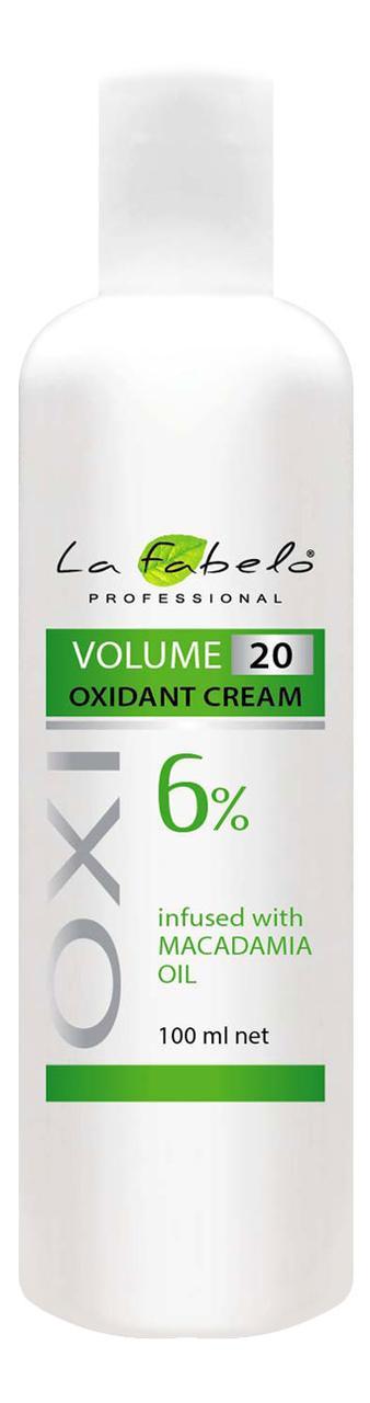 Крем оксидант La Fabelo с маслом макадамии 20 VOL 6% 100мл