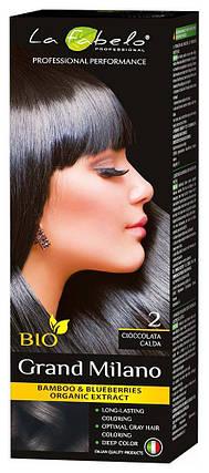 Крем-краска для волос био 100мл тон 2 La Fabelo Professional, фото 2