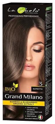 Крем-краска для волос био 100мл тон 3 La Fabelo Professional, фото 2