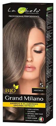 Крем-краска для волос био 100мл тон 5 La Fabelo Professional, фото 2