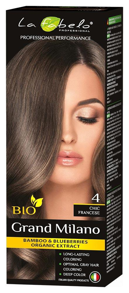 Крем-краска для волос био 100мл тон 4 La Fabelo Professional