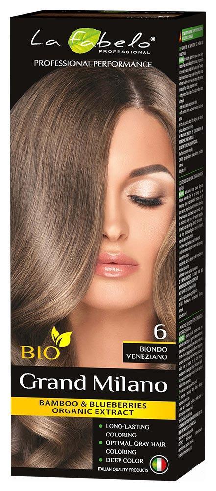 Крем-краска для волос био 100мл тон 6 La Fabelo Professional