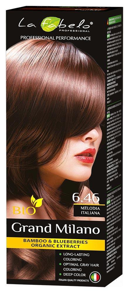 Крем-краска для волос био 100мл тон 6.46 La Fabelo Professional