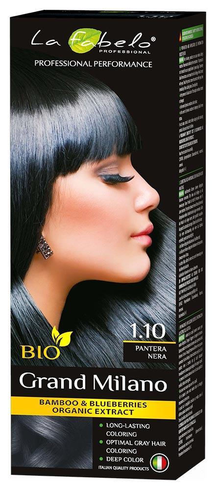 Крем-краска для волос био 100мл тон 1.10 La Fabelo Professional