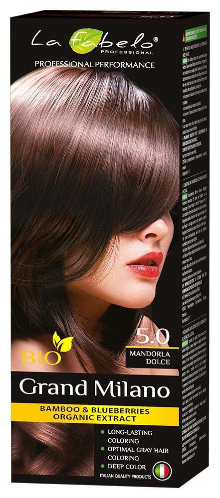 Крем-краска для волос био 100мл тон 5.0 La Fabelo Professional