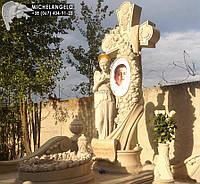 Памятник детский с мраморным крестом
