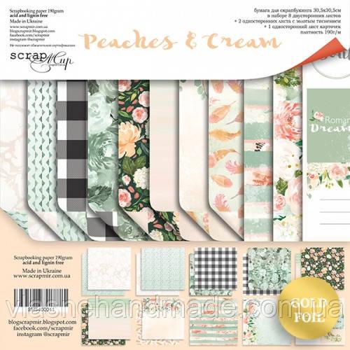 Набір двостороннього паперу - Peaches & Cream - Scrapmir - 30х30