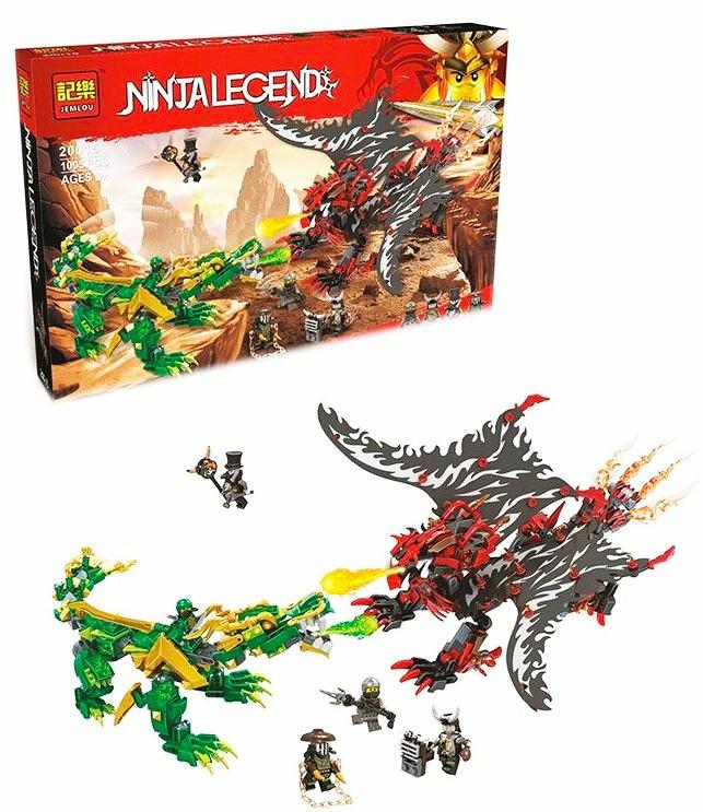 Конструктор ніндзя Jemlou Ninja Legend 20015 Битва драконов 1005 деталей