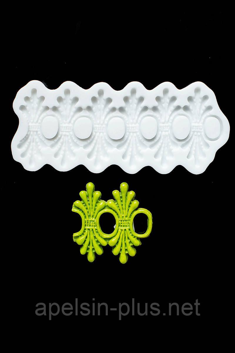 """Молд силиконовый для декора """"Кружево Карен"""" 17 см 7,5 см"""