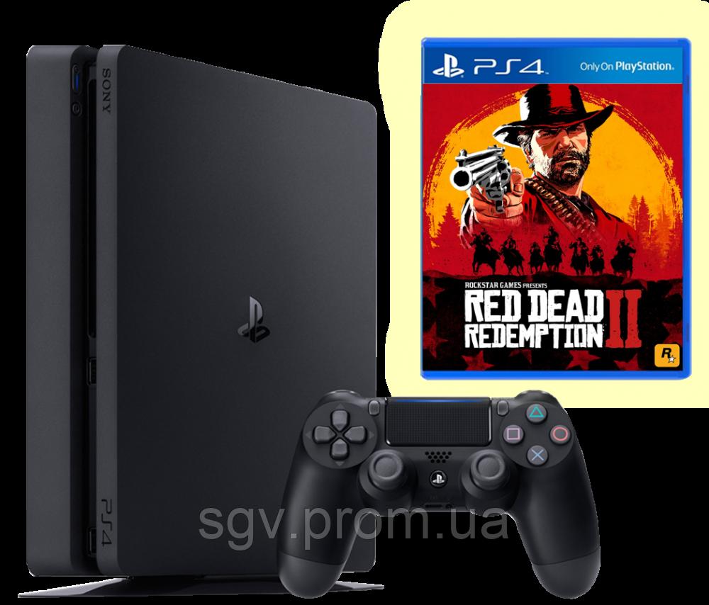 PlayStation 4 Slim 1TB Bundle Red Dead Redemption 2