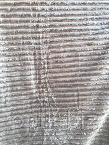 Плед-покрывало микрофибра ребристая 200*220 см (от 5 шт), фото 2