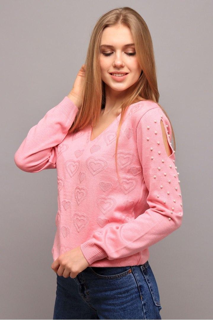 Джемпер Love розовая пудра (Код AL-ald00412)
