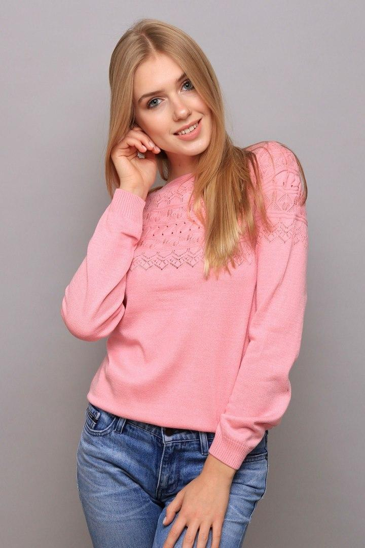 Джемпер Люси розовая пудра (Код AL-ald00390)