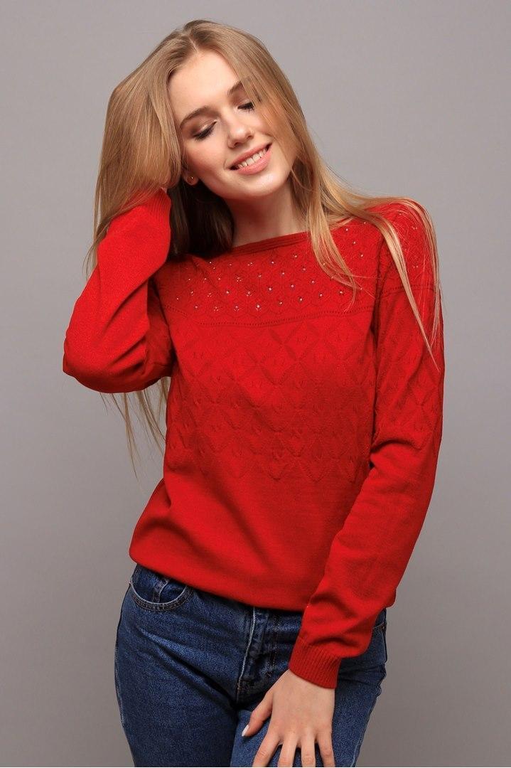 Джемпер Моника красный (Код AL-ald00406)