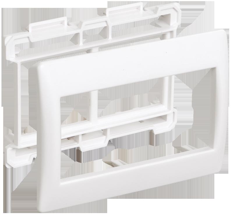 """Рамка и суппорт для К.К. """"Праймер"""" на 4 модуля, 60 мм белый IEK"""