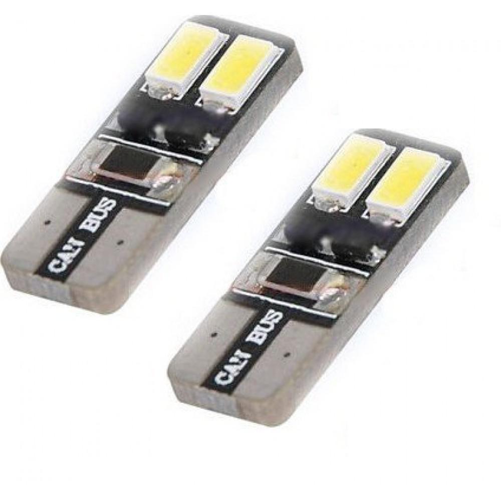 LED лампы Idial 440 W5W T10 4 Led 5730 SMD с обманкой (2шт)