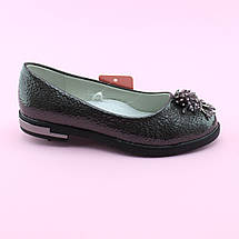 Туфли девочке Серебро тм Том.М размер 32,33,34,35,36,37, фото 2