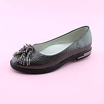 Туфли девочке Серебро тм Том.М размер 32,33,34,35,36,37, фото 3