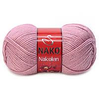 Пряжа Nako Nakolen 275 пыльная роза (нитки для вязания Нако Наколен) полушерсть 49% шерсть, 51% акрил
