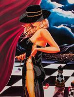 Набор для вышивания бисером FLF-079 Шахматная партия - 2 35*45 Волшебная страна качественный , фото 1