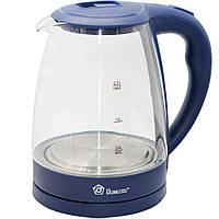 Електричний чайник прозорий Domotec MS-8211 потужність 2200 Вт