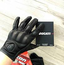 Кожаные мото перчатки Icon Pursuitне перфорированные, фото 3