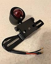 Задний кастом Led стоп-сигнал капля на мото с держателем под номер (Chopper, Bobber, Cafe Racer), фото 2