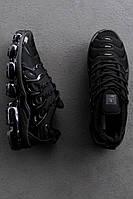 Женские кроссовки Nike Air VaporMax Plus Black \ Найк Вапормакс Черные \ Жіночі кросівки Найк Вапормакс Чорні