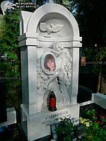 Памятник детский барельеф из мрамора