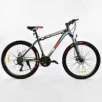 """Велосипед Спортивный CORSO K-Rally 26""""дюймов 0010 - 1497 BLUE-RED (1) рама металлическая 17``, 21 скорость, собран на 75%"""