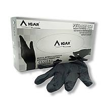 Рукавички нітрилові р-р L IGAR чорні