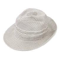 Шляпа женская пляжная серая 150221