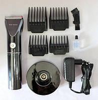 Машинка для стрижки Promotec PM 359 от сети и аккумулятора с подставкой