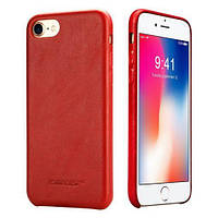 Чехол iGuardian Jisoncase для iPhone 7 Leather Red IGJI7LLRGM, КОД: 333291