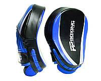 Лапы боксерские PowerPlay 3050 Черно-Синие PU [пара], фото 1