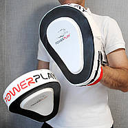 Лапы боксерские PowerPlay 3042 Черно-Белые PU [пара], фото 9