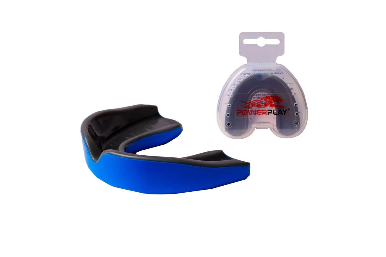 Капа боксерская PowerPlay 3315 SR Сине-Черная