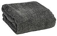 Плед из меланж-ткани серый 140x200 см