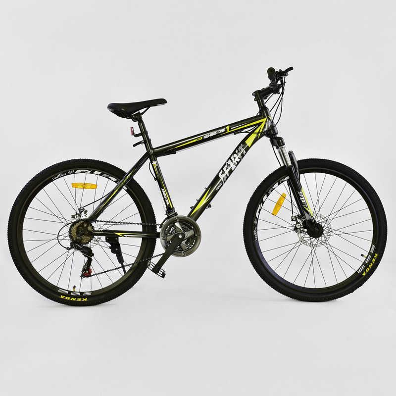 """Велосипед Спортивный CORSO SPIRIT 26""""дюймов JYT 001 - 2261 BLACK-YELLOW (1)"""