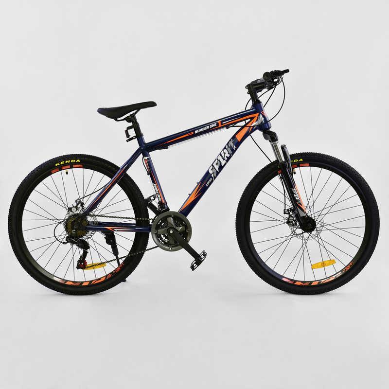 """Велосипед Спортивный CORSO SPIRIT 26""""дюймов JYT 001 - 7894 BLUE-ORANGE (1) рама металлическая 17``, 21 скорость, собран на 75%"""