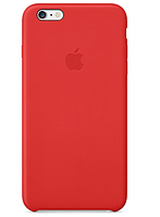 Кожаный чехол Apple Leather Case для iPhone 6 6s Plus Red, КОД: 324288