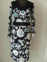 Платье на каждый день или праздник, приталенное размер 54 код 239М