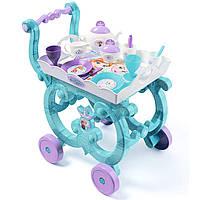 Столик сервировочный на колесиках с чайным сервизом Фроузен Frozen Smoby 310577