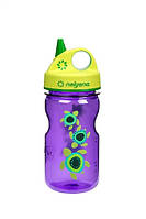 Бутылка для воды детская Nalgene Grip-n-Gulp Фиолетовая Turtles Art. 350 мл.