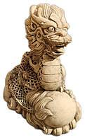 Светильник керамический - Дракон восточный(шамотная глина)