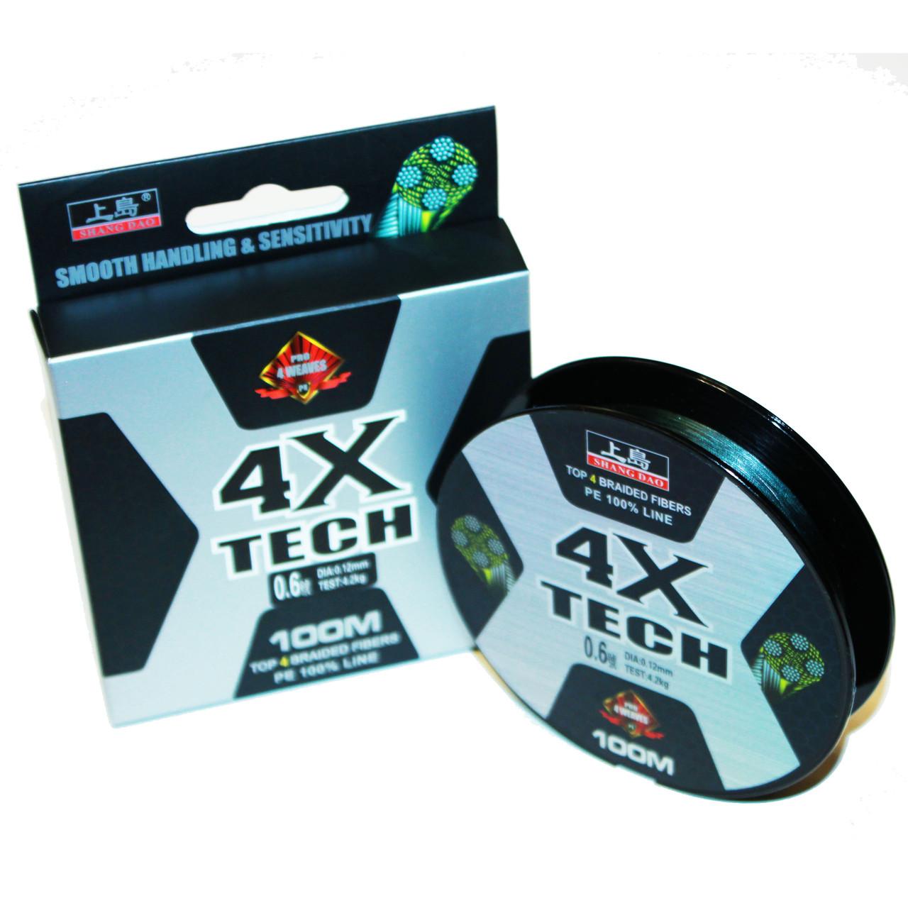 Шнур Рыболовный 4X Tech