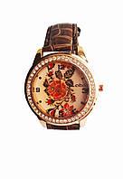 Часы кварцевые Вышиванка Коричневый