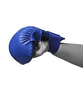 Перчатки для каратэ PowerPlay 3027 Синие S / M / L, фото 3