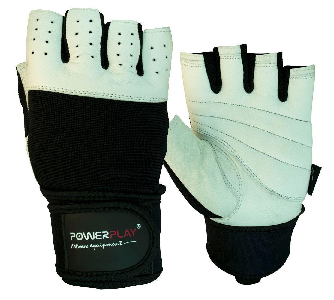 Перчатки для фитнеса PowerPlay 1069 Черно-Белые L
