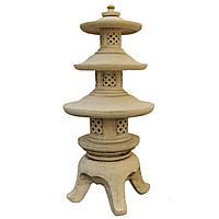 Светильник керамический - Пагода восточная(шамотная глина)